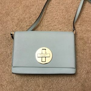 Kate Spade baby blue crossbody bag